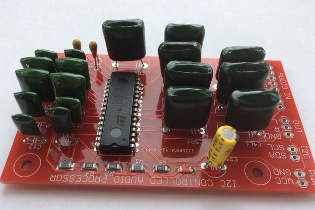 Three-band I2C-controlled audio processor
