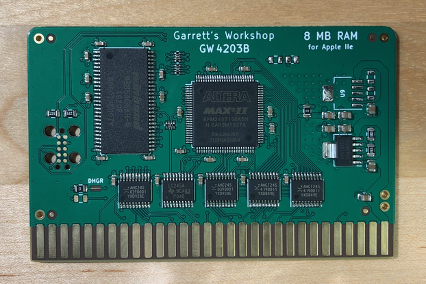 RAM2E (GW4203B) -- 8MB RAM for Apple IIe ][e