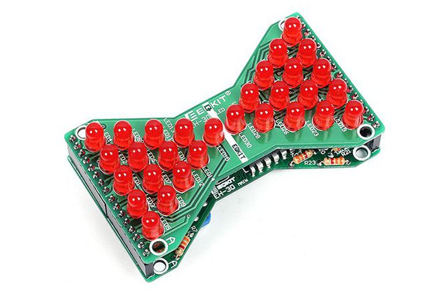 3.3V-5V Red LED Hourglass DIY Kit(13068)