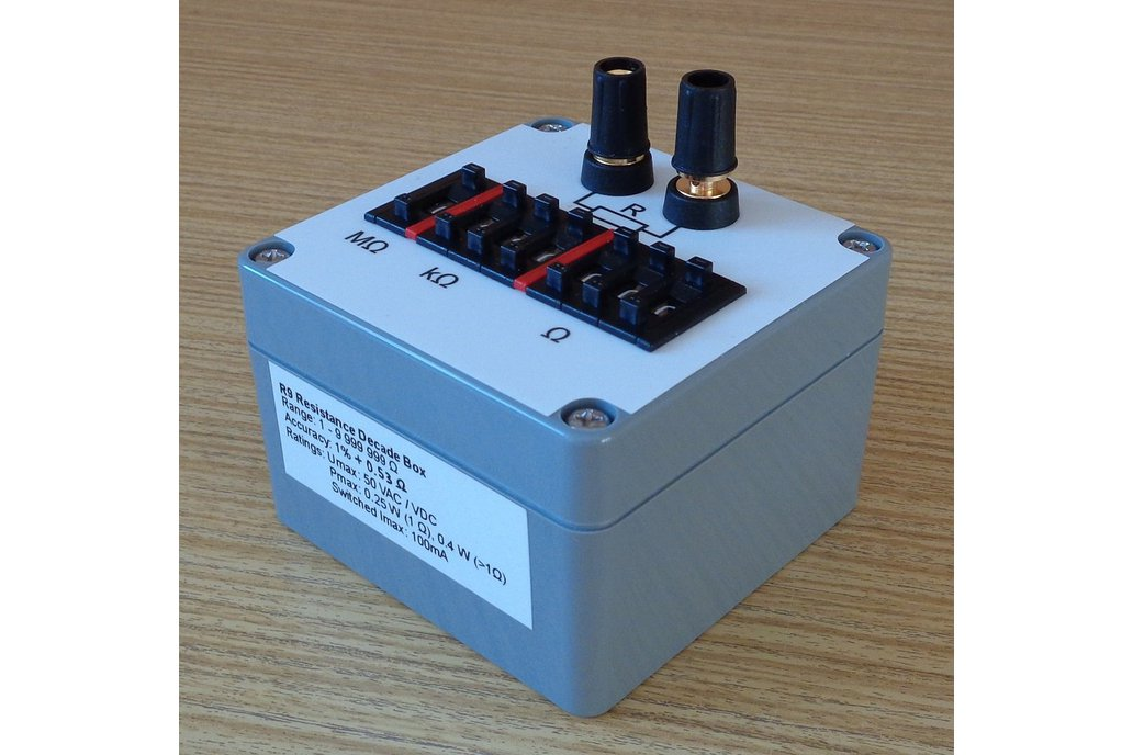Resistance decade box (Resistor substitution box) 1