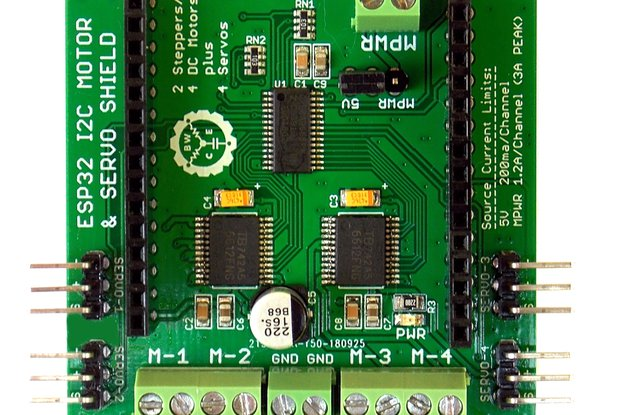 Quad Motor & Servo Shield for ESP32 Project Board