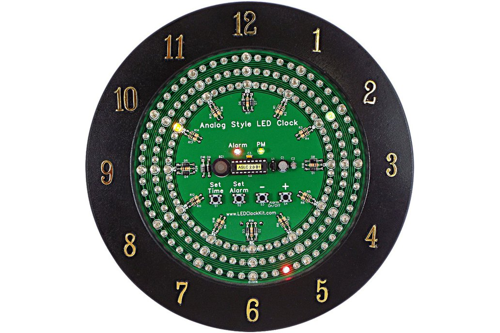 Analog Style LED Clock Kit 2
