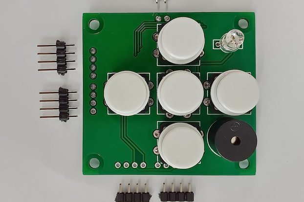 I2CUI4_V1 - User Interface I2C module with 5-keys