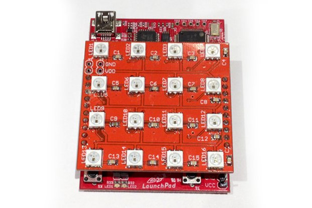 WS2812 RGB LED 4x4 Matrix Booster Pack PCB