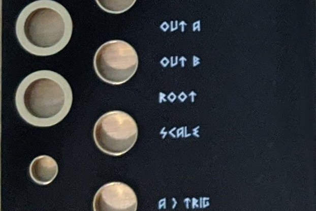 Black Panel for Intellijel Scales