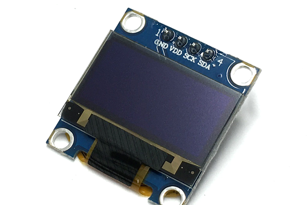"0.96"" White OLED Display, 128 x 64, SSD1306 Driver"
