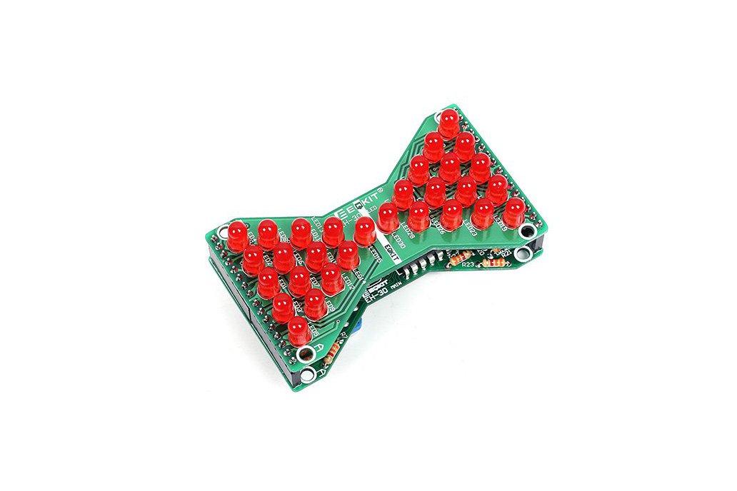 3.3V-5V Red LED Hourglass DIY Kit(13068) 1
