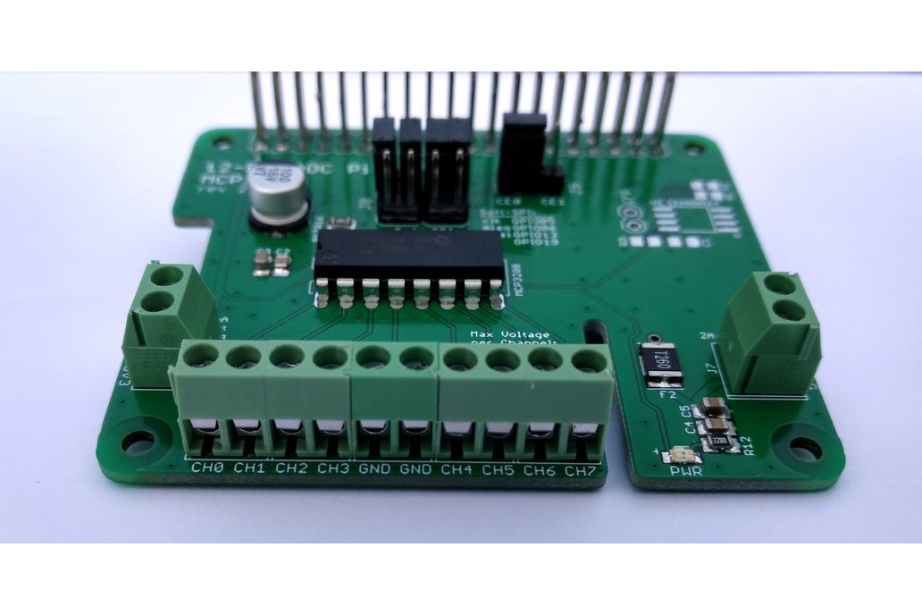 12-Bit/8-Channel ADC HAT for Raspberry Pi 2