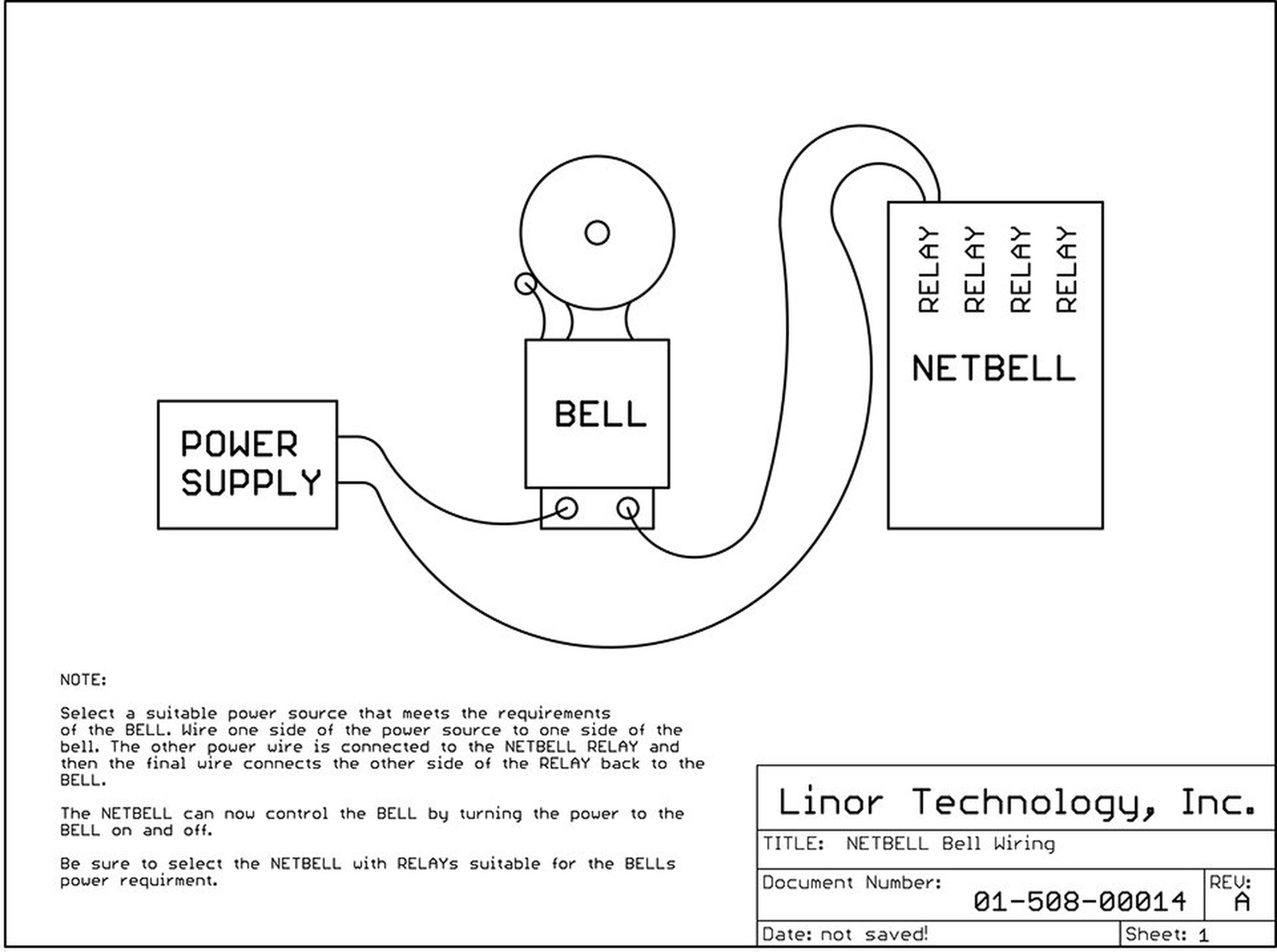 Netbell 2 Tcp Ip Ethernet Bell Ringer 500 Schedule From Linortek On Block Wiring Diagram 4