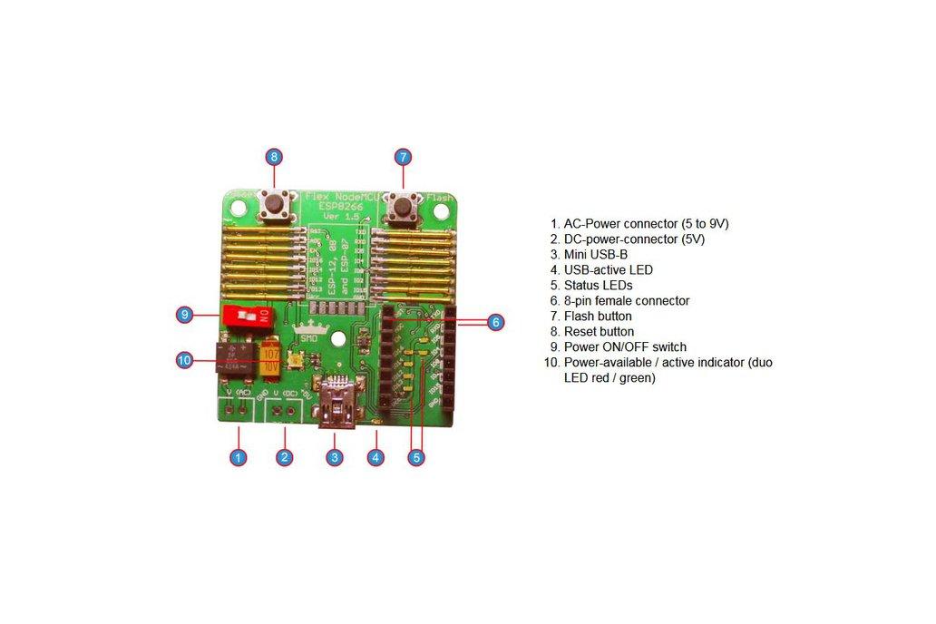 Flexible NodeMCU ESP12, 08 and 07 programmer 2