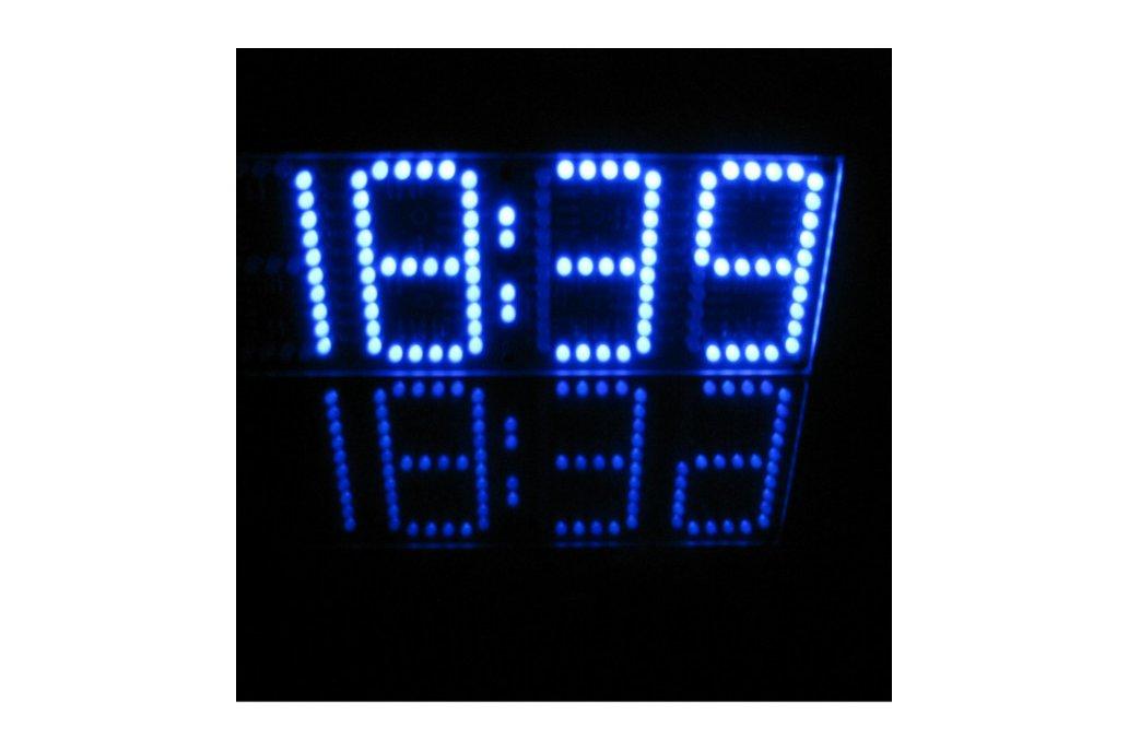 Large Screen Remote Clock Electronic DIY Kit 4