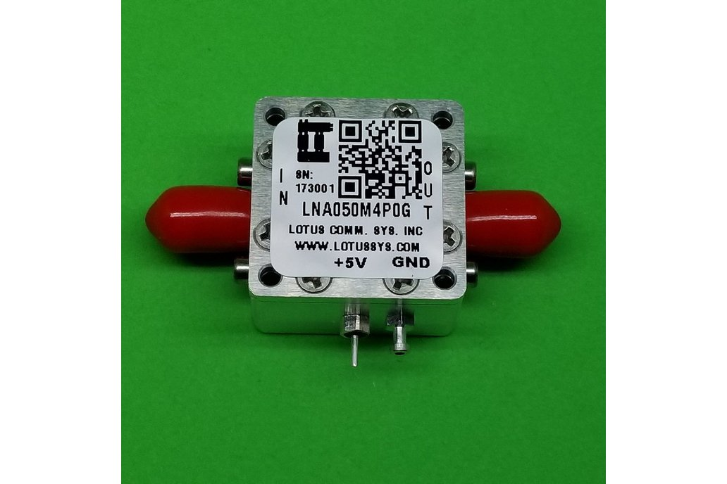 Broadband LNA 0.8dN NF 50MHz~4GHz SMA 1