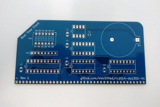 Real Time Clock PCB for the RC2014 Computer