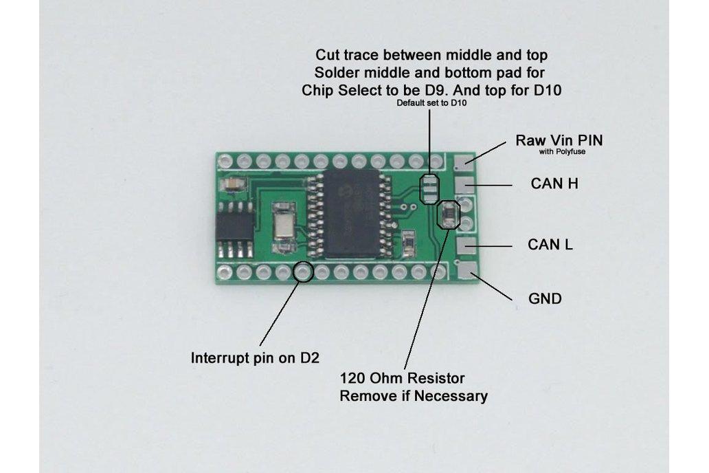 MCP2515 CAN Bus Shield for Arduino Pro Mini/Micro 4
