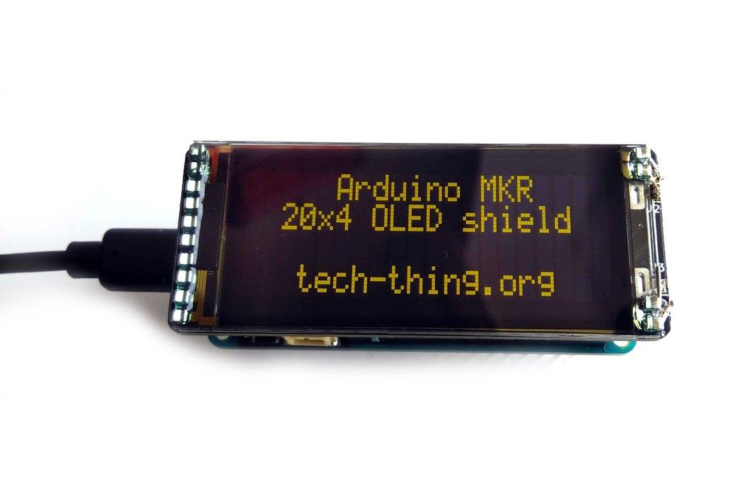 Arduino MKR 20x4 I2C OLED shield 1