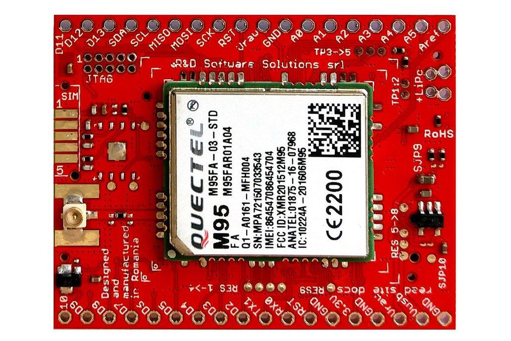 xyz-mIoT w. M95FA (ARM0 shield + 2G modem) 1