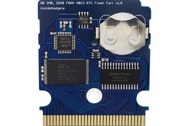 Gameboy 2MB/4MB 32KB FRAM MBC3 RTC Flash Cart