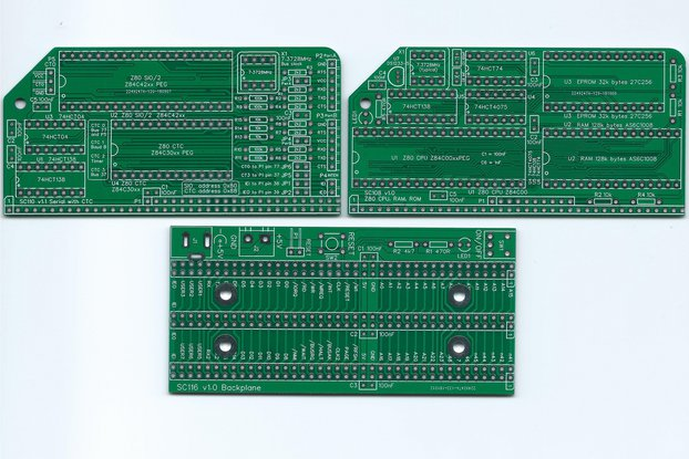 SC201 Boards for a minimal Z80 computer