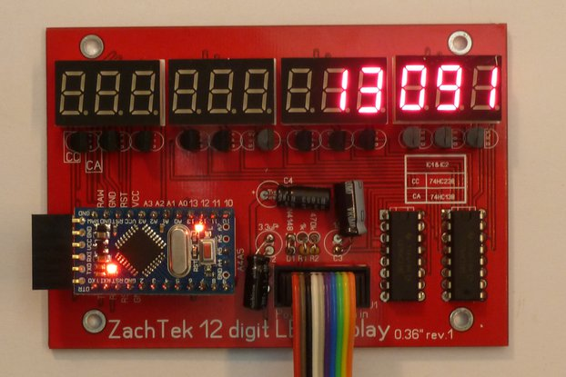 12 Digit LED Display