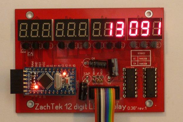 12 Digit LED Display