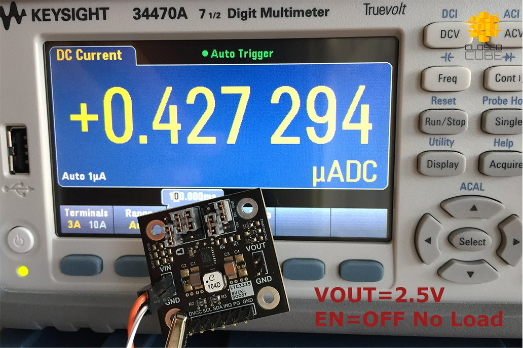LTC3335 Nanopower Buck-Boost with Coulomb Counter 6