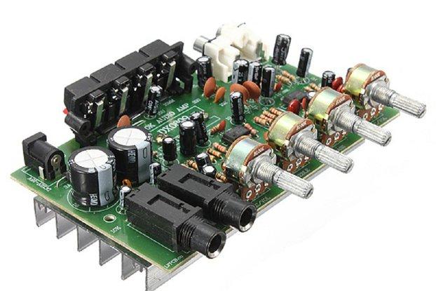 60W 12V Hi-Fi Digital Stereo Audio Amplifier