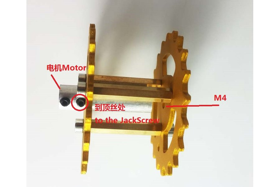 Metal Driving Wheel for Robot Tank Car Chassis