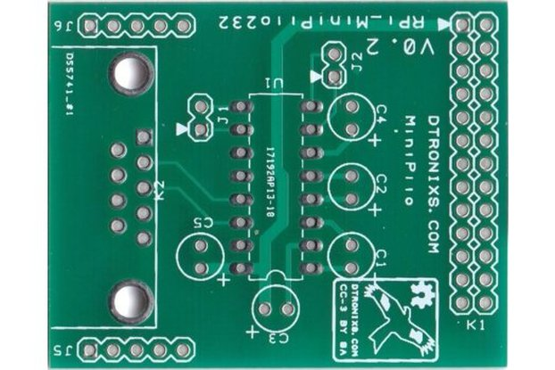 Raspberry PIIO - MiniPiio RS232  (PCB only)