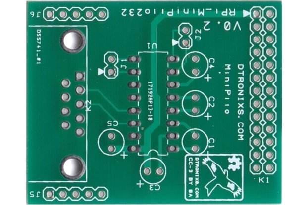 Raspberry PIIO - MiniPiio RS232  (PCB only)