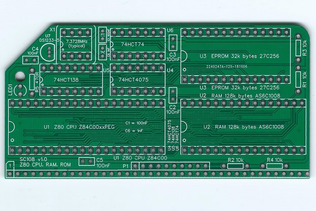 SC108 Z80 CPU, RAM & ROM Board for RC2014