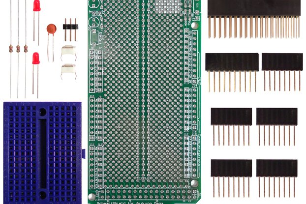 Through Hole Prototyping Shield for Arduino Mega