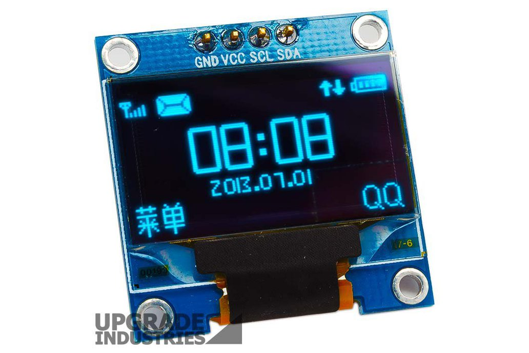 128x64 Blue I2C OLED Display - 0.96 inch 2