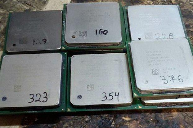 9 x Used Intel Pentium 4 CPU