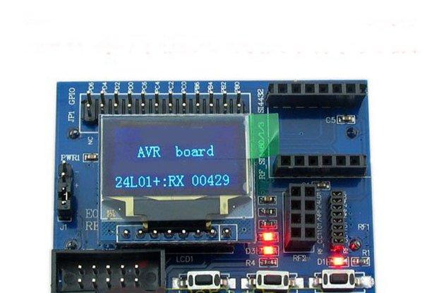 AVR development board for wireless modules