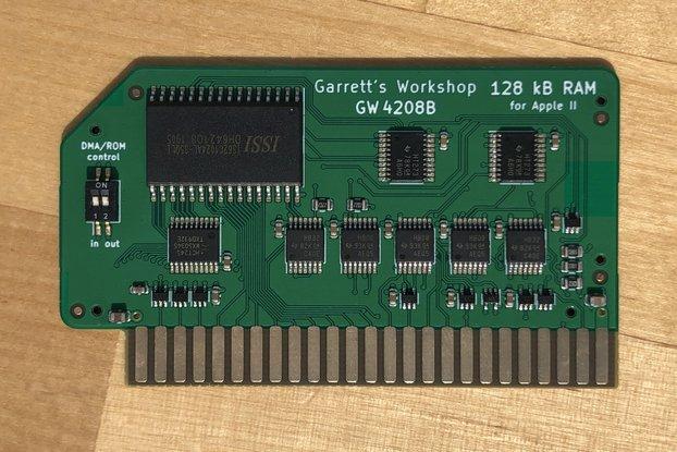 RAM128 (GW4208B) -- 128kB RAM for Apple II