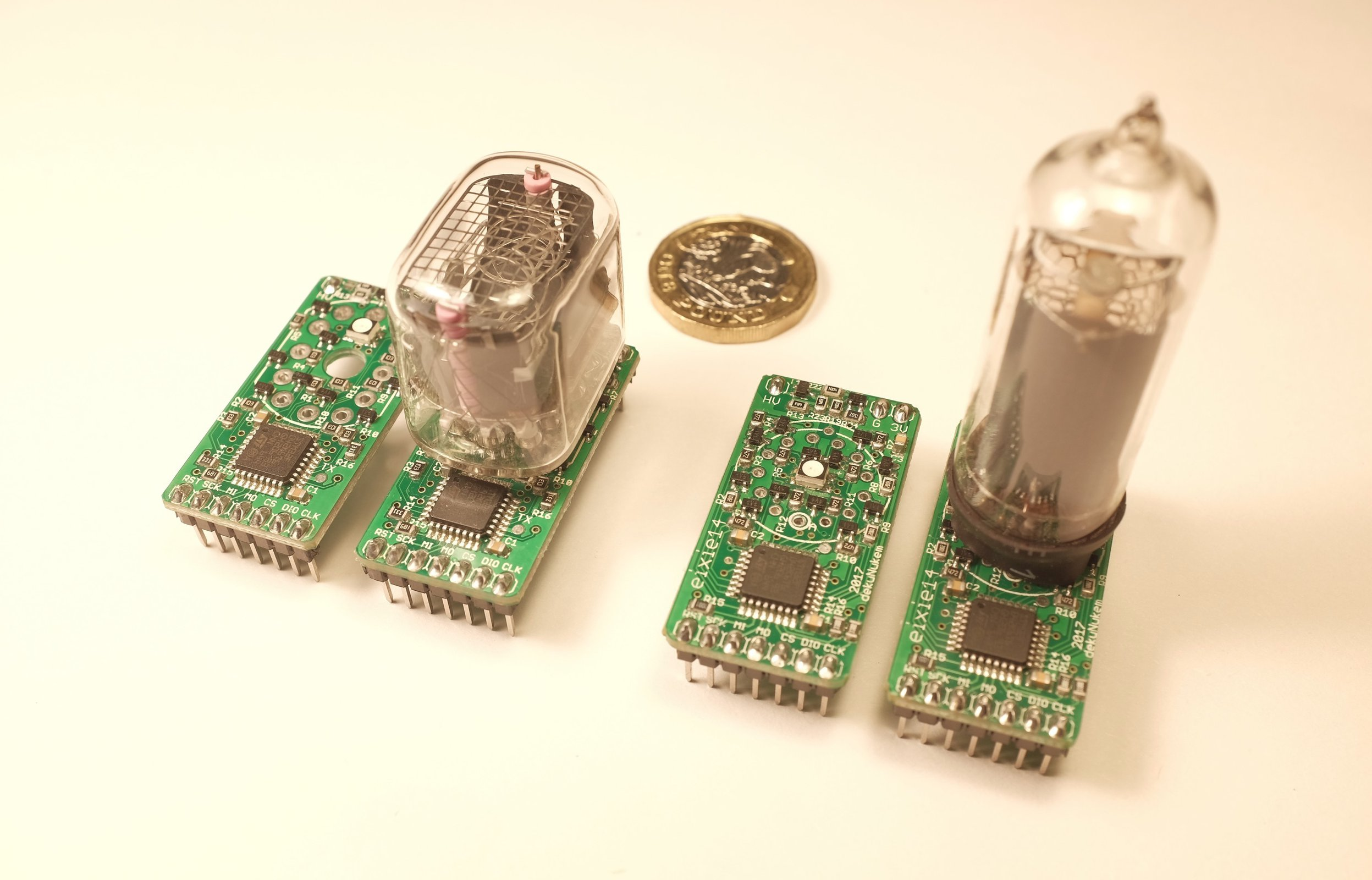 Exixe Miniture Nixie Tube Driver Modules From Dekunukem On Tindie Schematic Of My 6 Digit Clock Here Are Some Photos 2