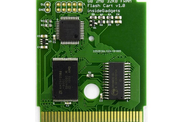 Gameboy 2MB ROM, 32KB FRAM Flash Cart
