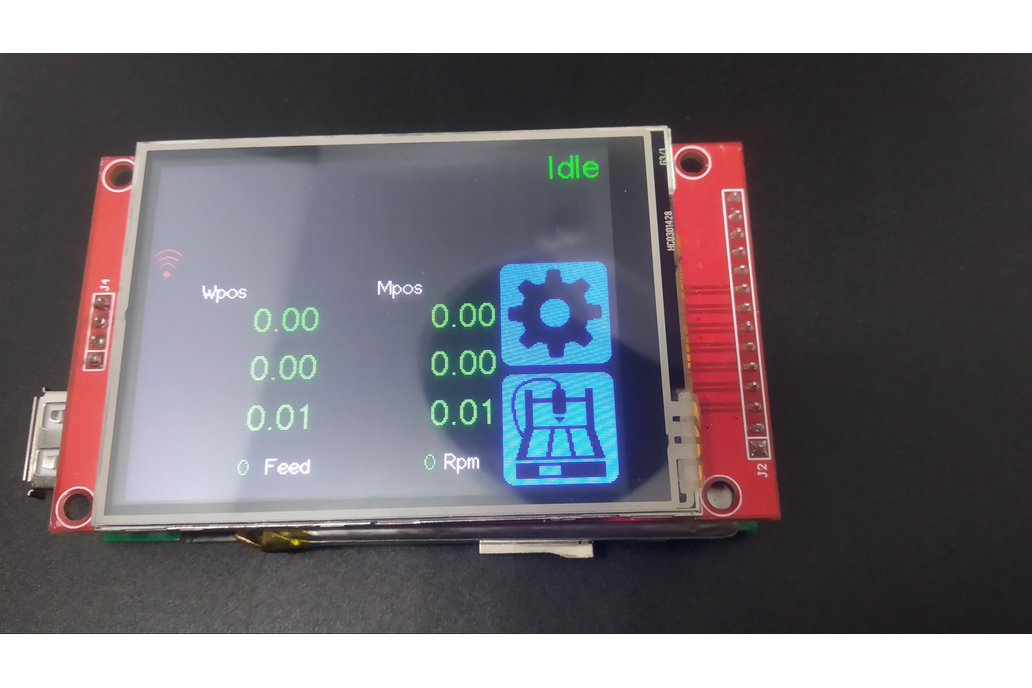 """Universal GRBL CNC Pendant with 2.8"""" touch screen 1"""