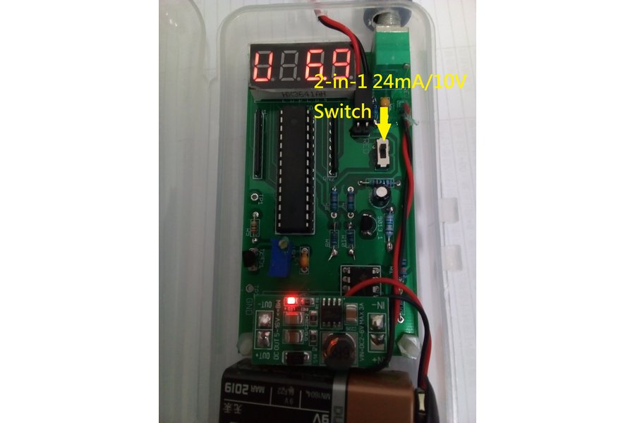 2- in-1 0-24mA current  + 0-10V signal generator