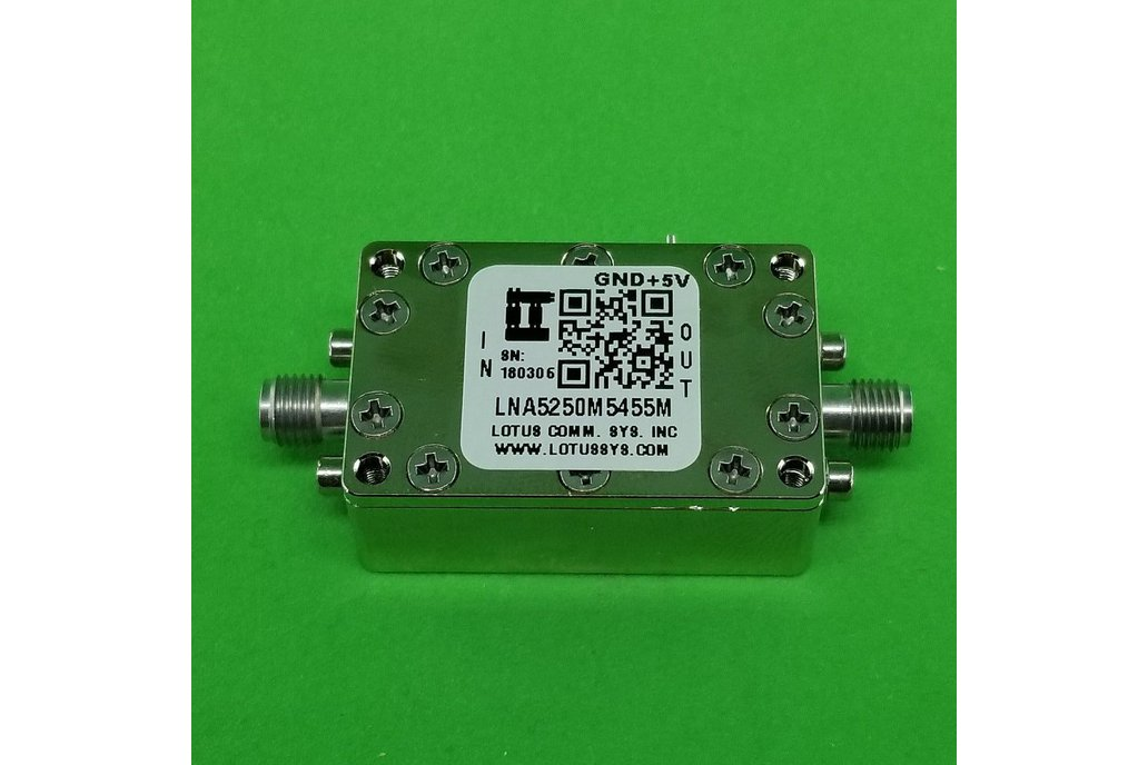 Amplifier LNA 0.85dB NF 5250M~5455 MHz 1