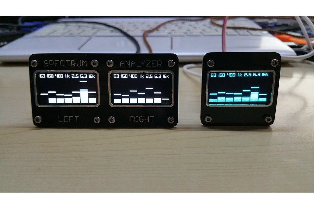 OLEDiUNO Spectrum Analyzer with 3 display modes 1