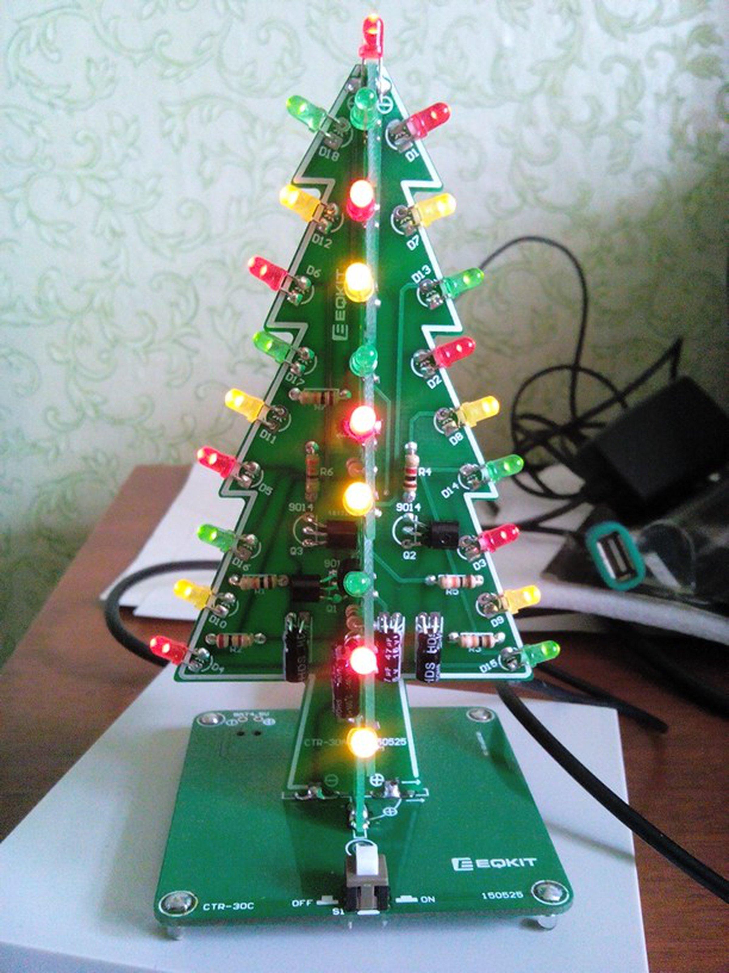 diy flashing led christmas tree circuit kit7212 2 - Led Christmas