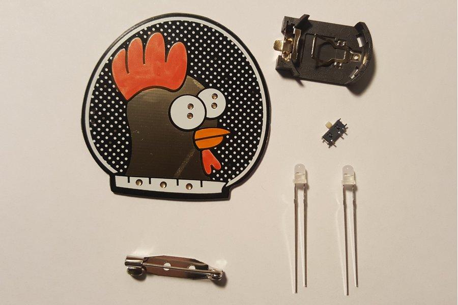 Spacehuhn blinky LED badge kit
