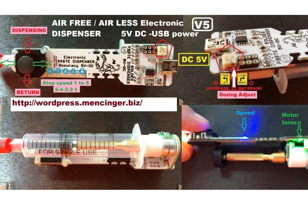 Solder Paste Dispenser V5 Air Free paste extruder  1