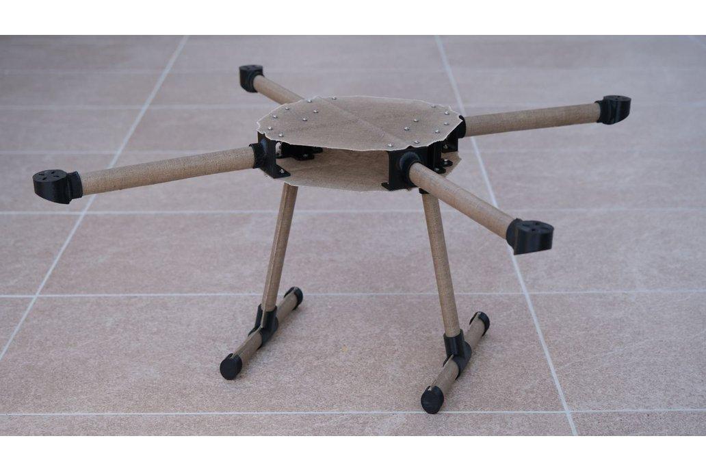 Natural Fiber Composite Drone Frame linen parts 1