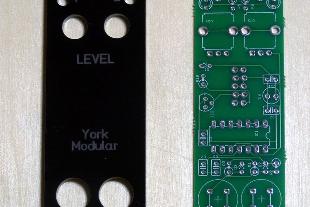 PCB/panel for Eurorack dual manual gate module