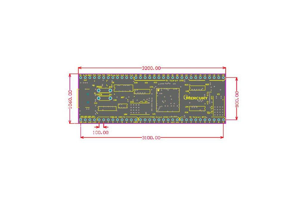 Mercury DIP FPGA board 4