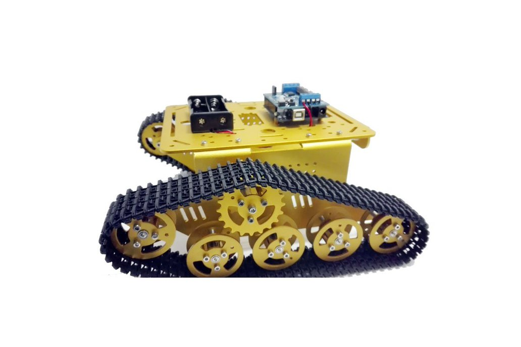 Wireless WiFi metal tank car chassis with arduino 3