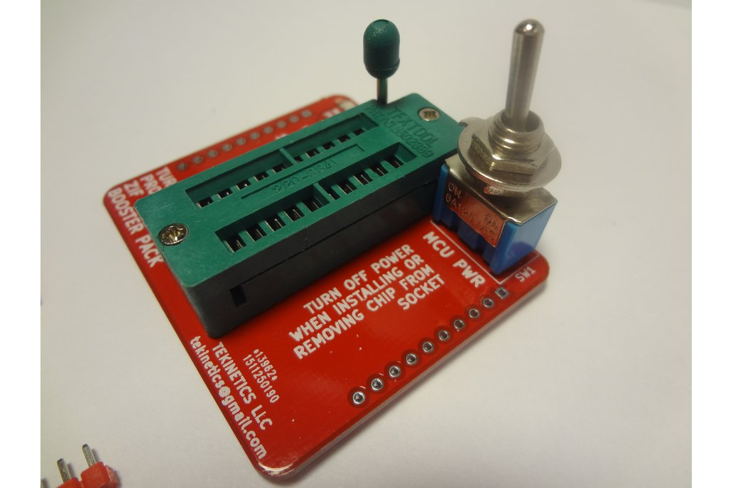 Turbo ZIF Programmer Boosterpack for TI Launchpad 1