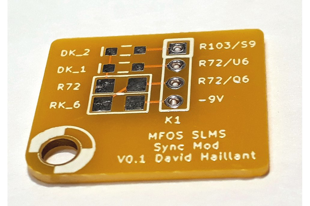Sync Mod Board for the MFOS Sound Lab Mini-Synth 1